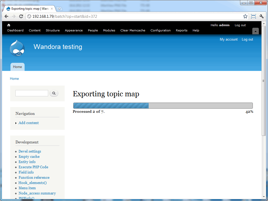 Drupal - Topic Map Export process